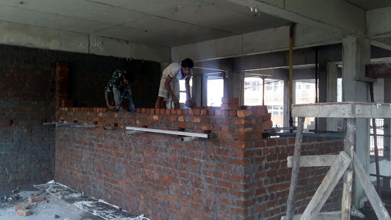 Brick work in progress
