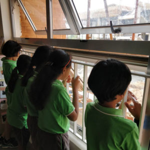 Our inquirers look out and wonder while following the progress